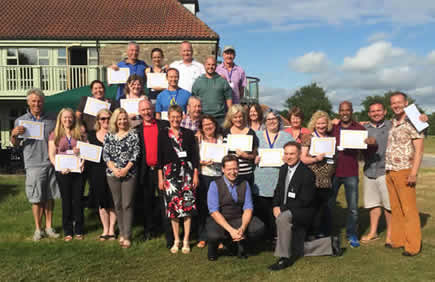 Group picture from Havening Techniques training near Bristol, July 2015